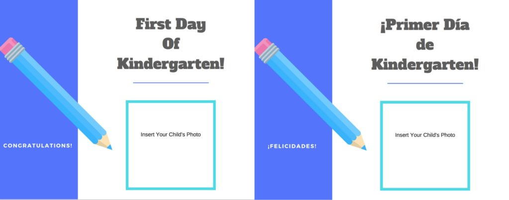 First Day of School Printables - English and Spanish