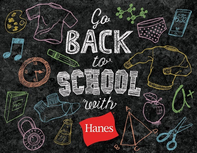 Back To School Hanes $50 Gift Card Giveaway