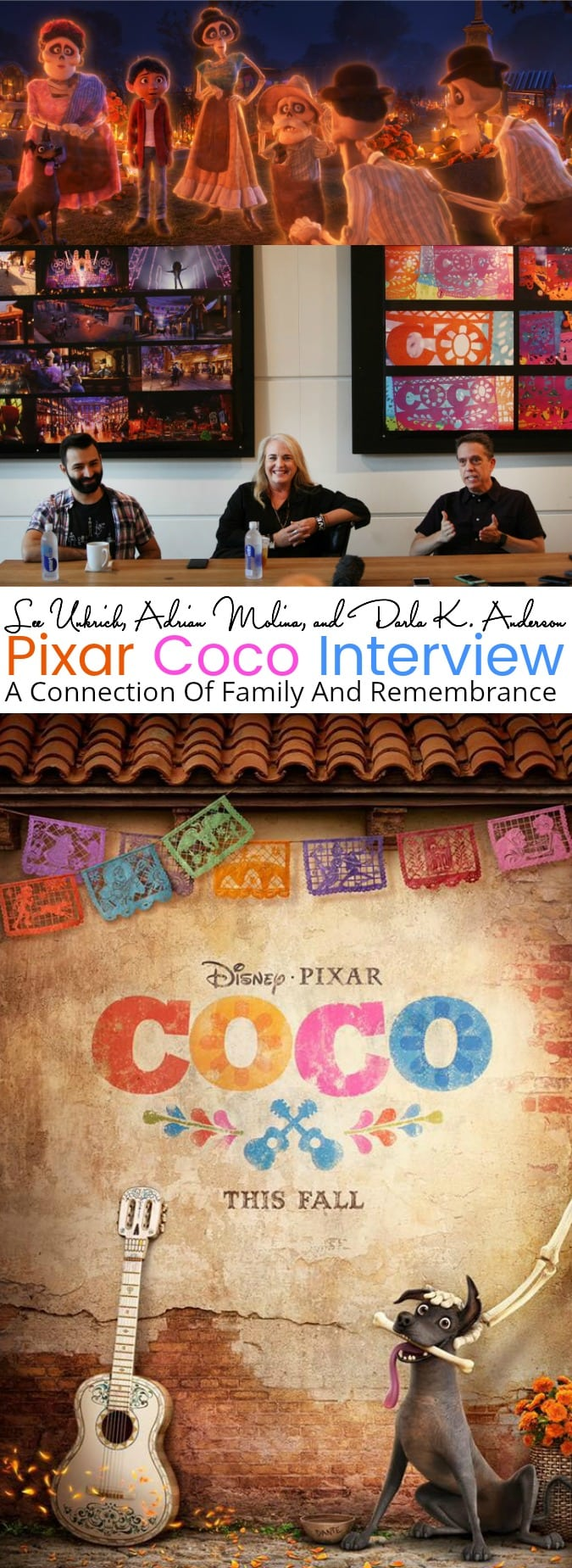 Lee Unkrich, Adrian Molina, and Darla K. Anderson Pixar Coco Interview | A Connection Of Family And Remembrance #PixarCOCOEvent - abccreativelearning.com