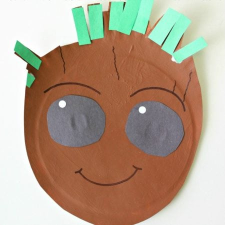 Paper Plate Baby Groot Craft + Guardians of the Galaxy Vol 2 4K Ultra HD™ and Blu-ray Release
