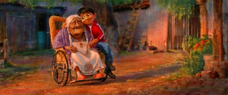 5 Facts You Should Know About COCO and Dia De Los Muertos - Miguel and Great Grandmother Coco