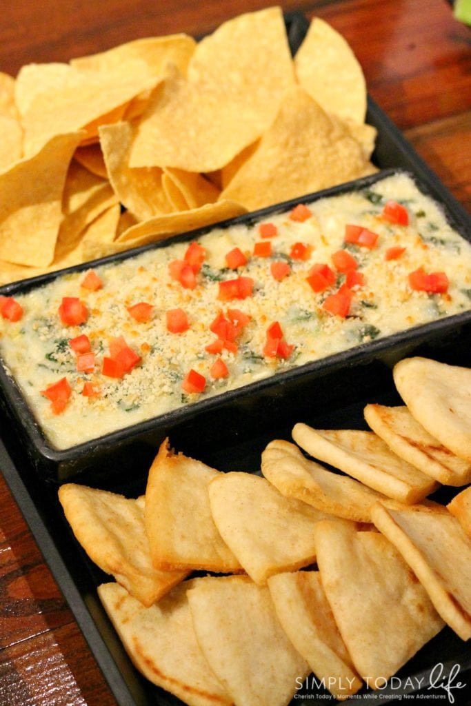 A Rock 'N Roll Experience with a Twist at Ace Cafe Orlando - Artichoke and Spinach Spin-Out Dip