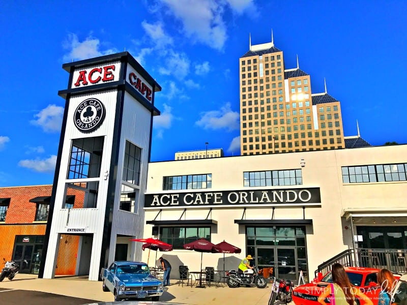 A Rock 'N Roll Experience with a Twist at Ace Cafe Orlando - Outside Area