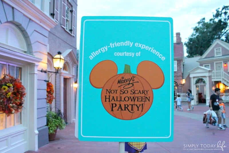 Allergy Friendly Guide To Mickey's Not So Scary Halloween Party Allergy Friendly Treats Allergy Friendly Signs