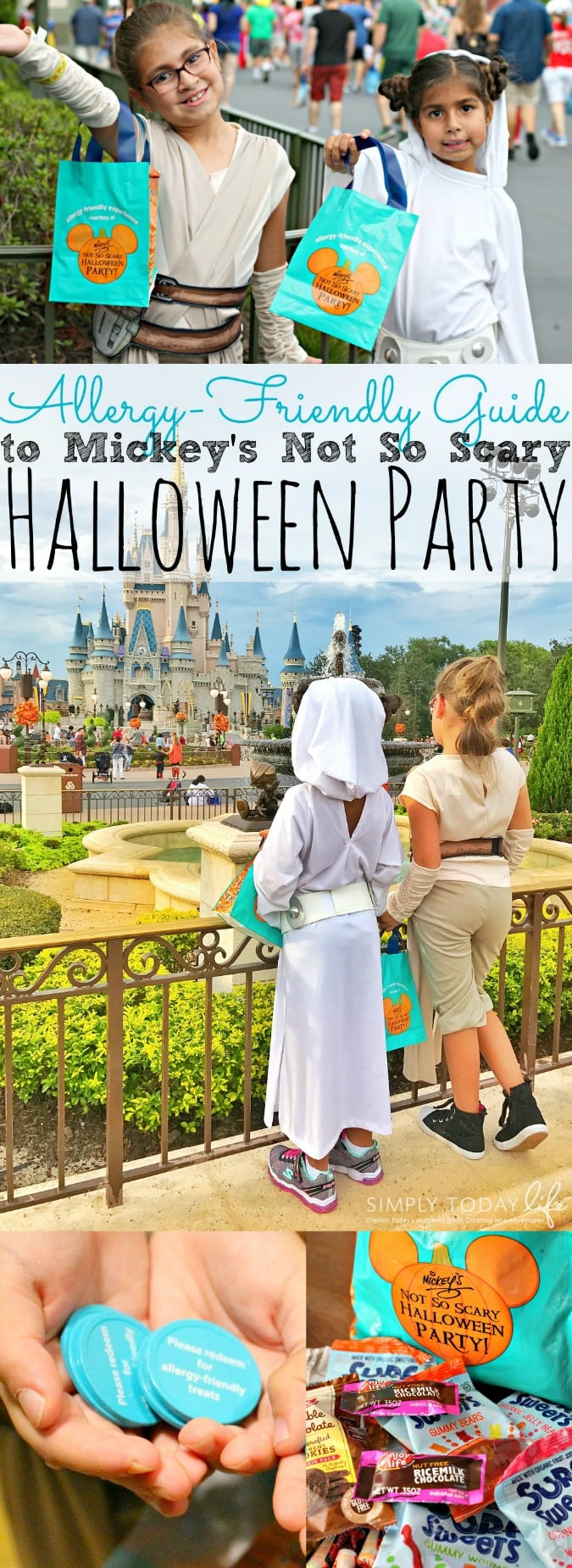If you're heading to Walt Disney World Florida this year to visit Mickey's Not So Scary Halloween Party make sure to check out our Allergy-Friendly Guide! Includes samples of candy given out at the party, how the Teal Token works, locations for candy trick-or-treating, and some tips and tricks for Mickeys Not So Scary Halloween Party with kids! (hosted) - simplytodaylife.com