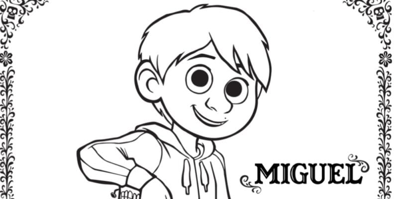 Free COCO Coloring Pages and Activity Sheets #PixarCOCOEvent
