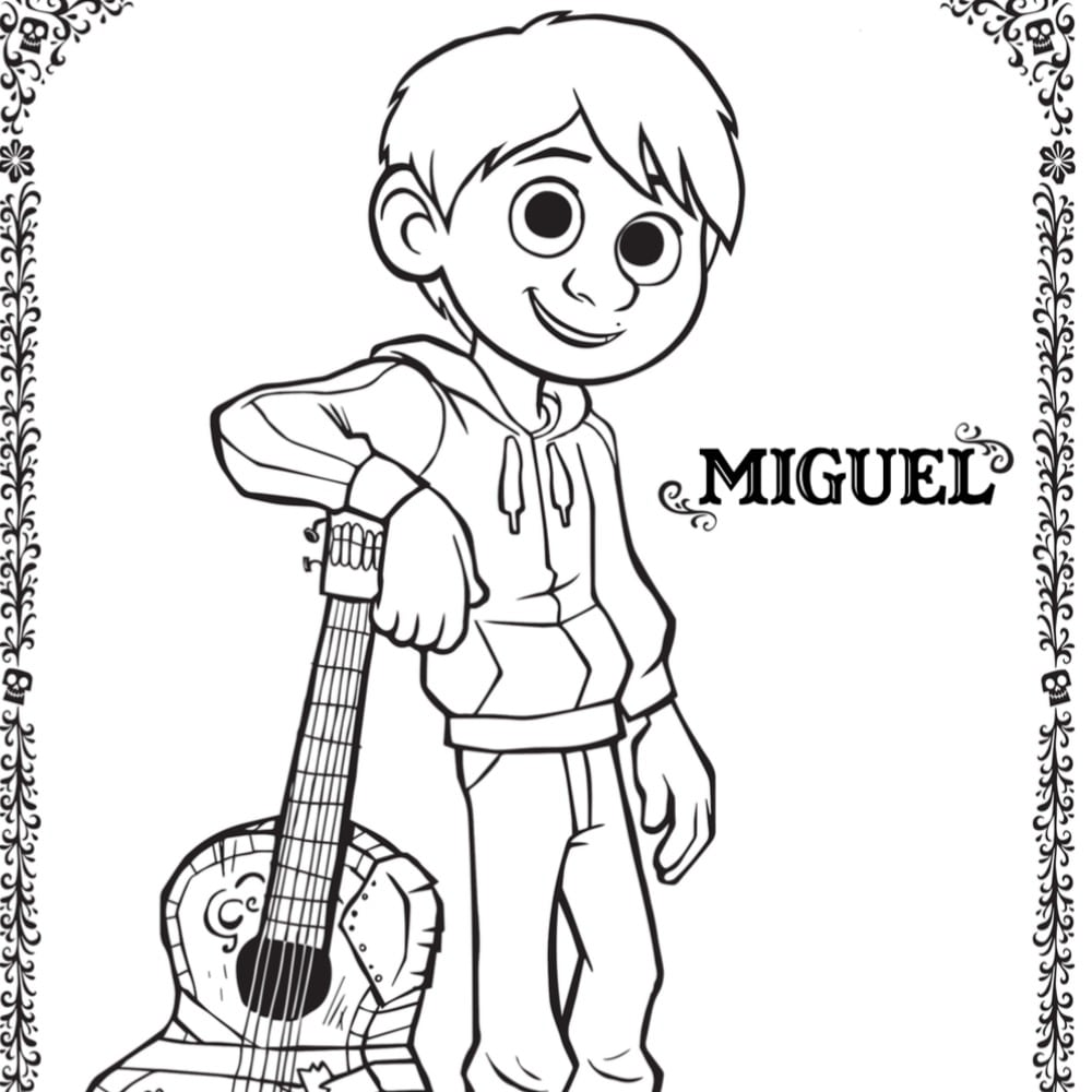 Free COCO Coloring Pages and Activity