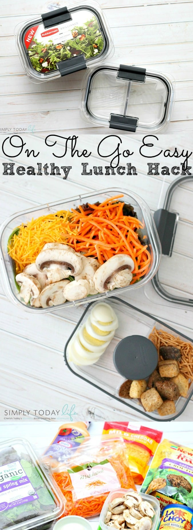 On The Go Easy Healthy Lunch Hack Rubbermaid BRILLIANCE Salad & Snack Set - simplytodaylife.com