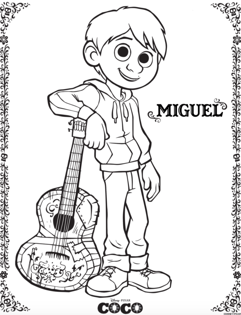 Free COCO Coloring Pages and Activity Sheets #PixarCOCOEvent ...