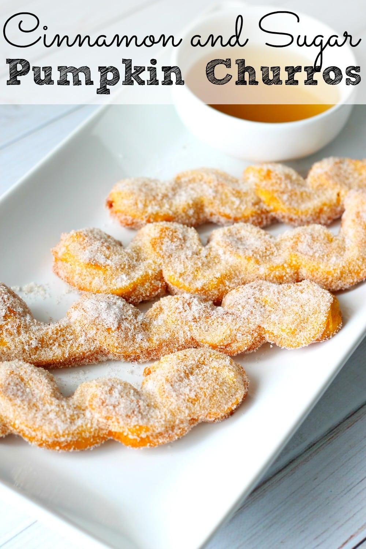 Cinnamon and Sugar Pumpkin Churro Recipe - simplytodaylife.com