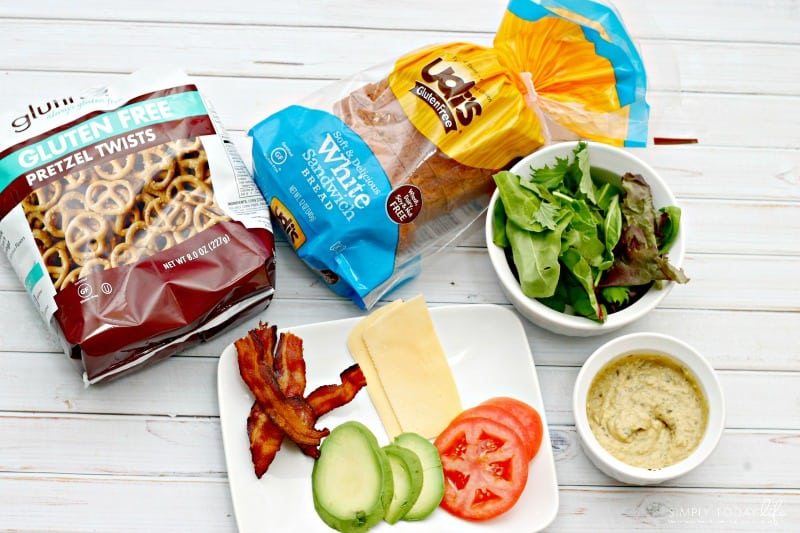 Gluten-Free Pesto Hummus Avocado BLT Sandwich Ingredients
