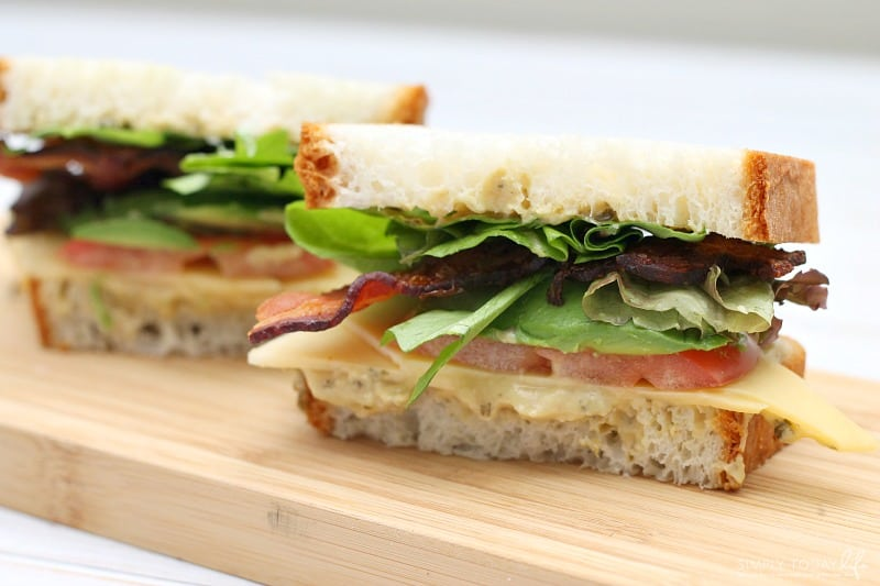 Gluten-Free Pesto Hummus Avocado BLT Sandwich Recipe