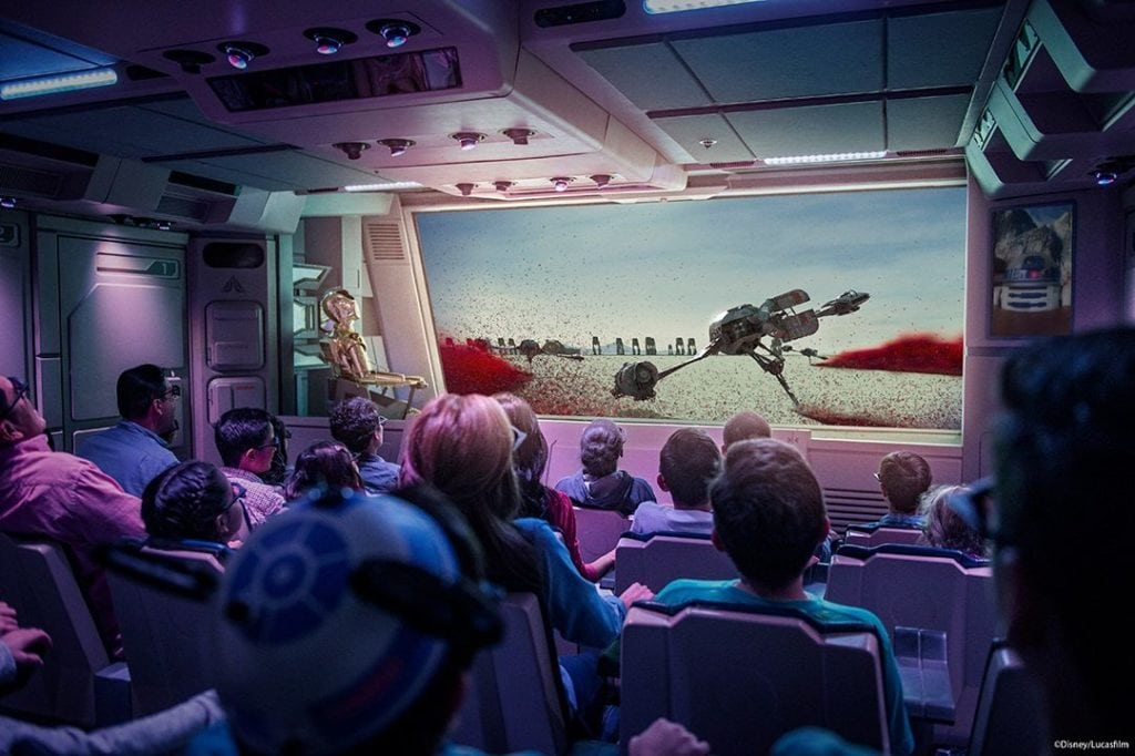 Experiencing Holiday Time at Disneyland and The Last Jedi on Star Tours Scene