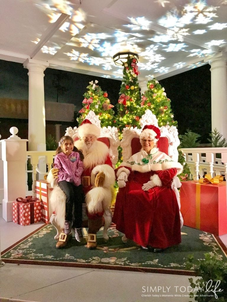 A Family Guide To Epcot International Festival of the Holidays - Santa Clause and Mrs. Clause
