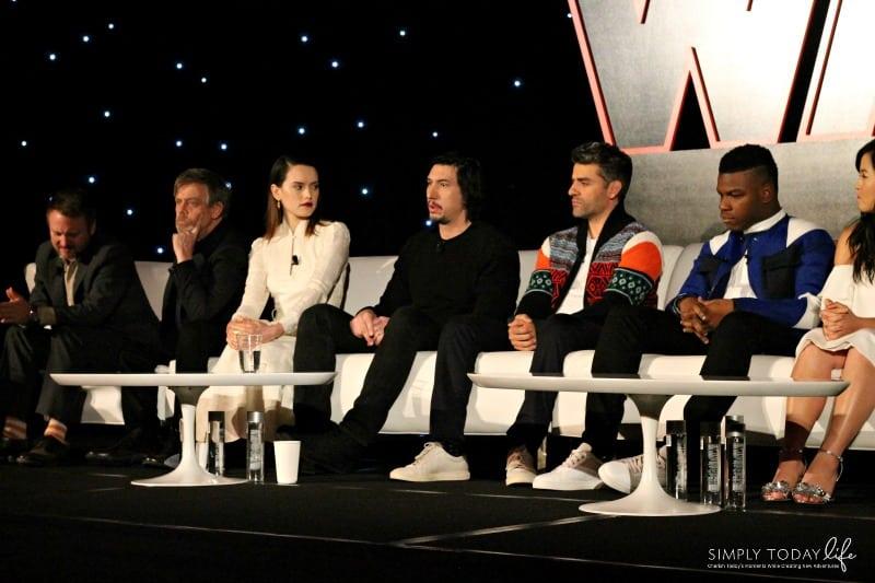 A Front Row View At Star Wars: The Last Jedi Global Press Junket - Adam Driver