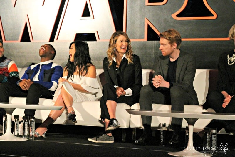 A Front Row View At Star Wars: The Last Jedi Global Press Junket #TheLastJediEvent Cast Laughing
