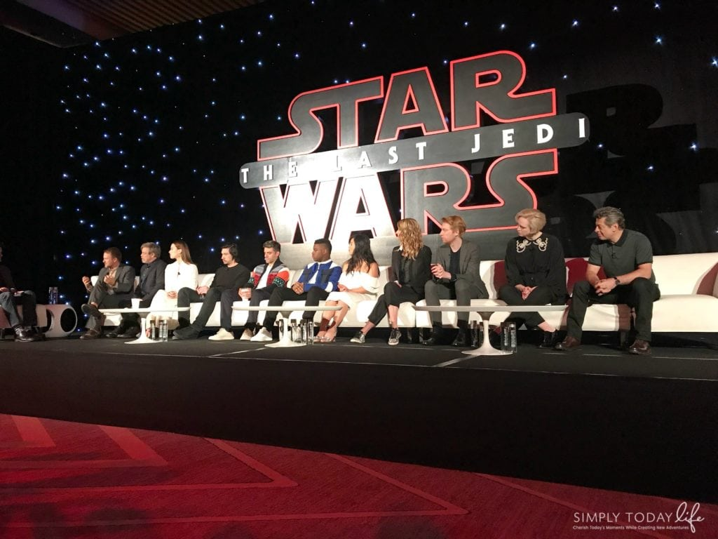 A Front Row View At Star Wars: The Last Jedi Global Press Junket Cast Photo