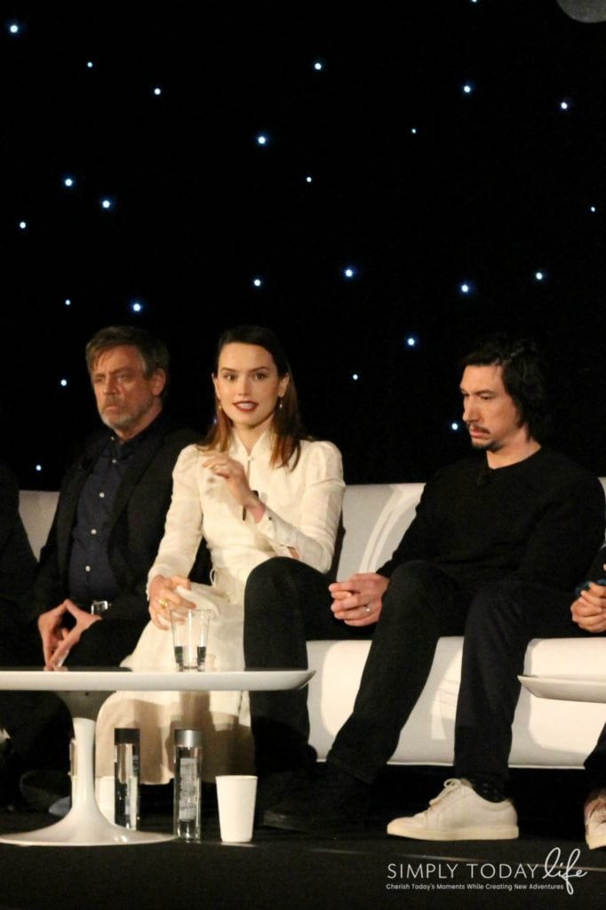 A Front Row View At Star Wars: The Last Jedi Global Press Junket - Mark Hamill and Daisy Ridley