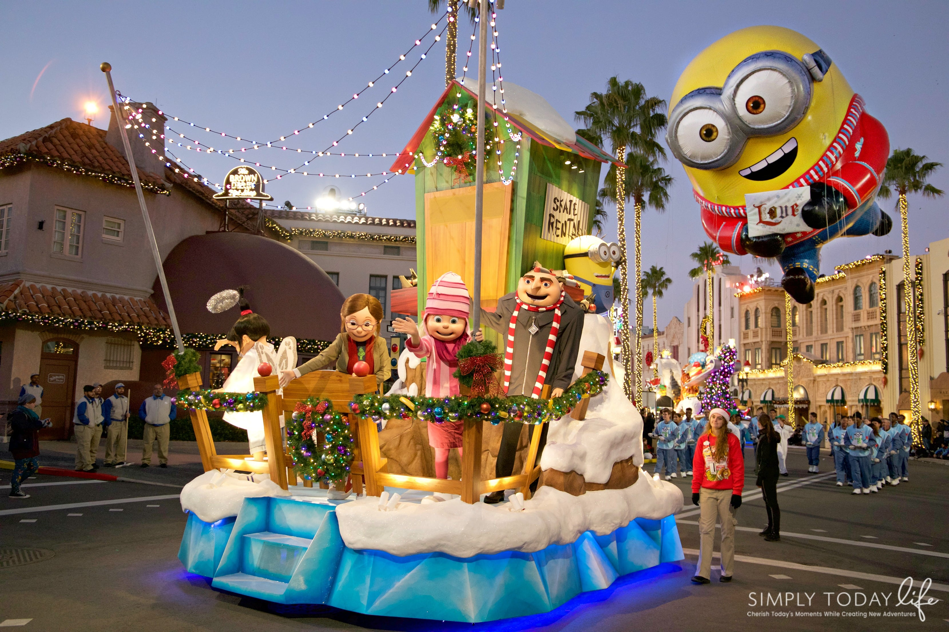 Family Guide To Celebrating the Holidays at Universal Orlando Resort- Minions Float Macy's Parade