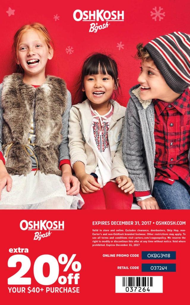 OshKosh B'gosh 20% off coupon