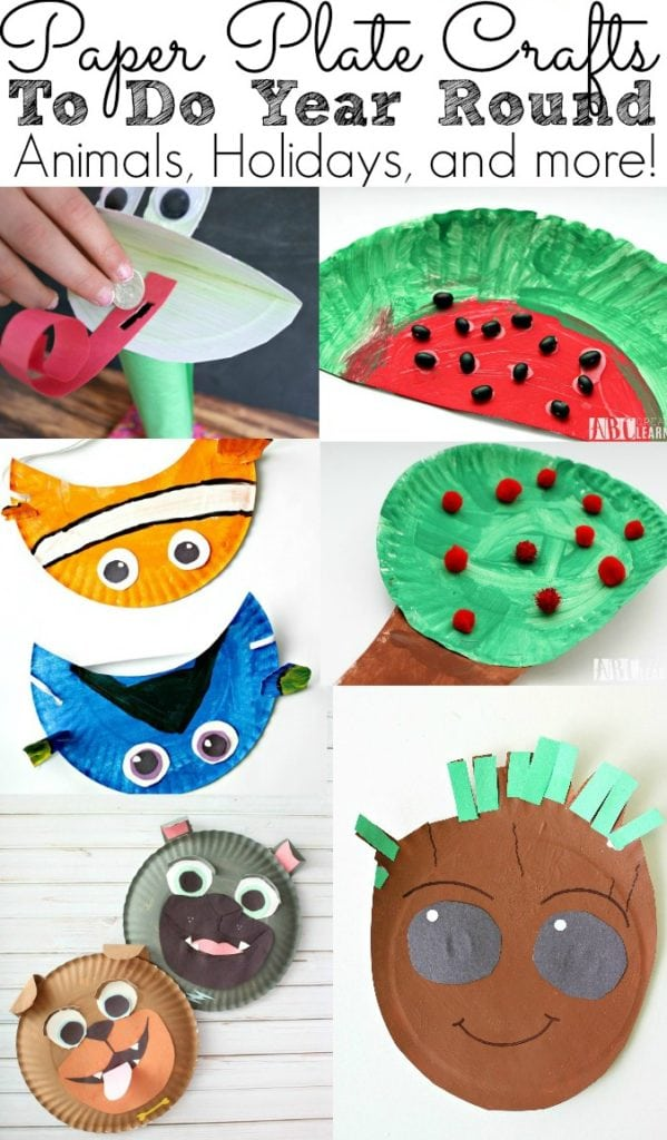 Paper Plate Crafts To Do Year Round Animals holidays and more - simplytodaylife.com_