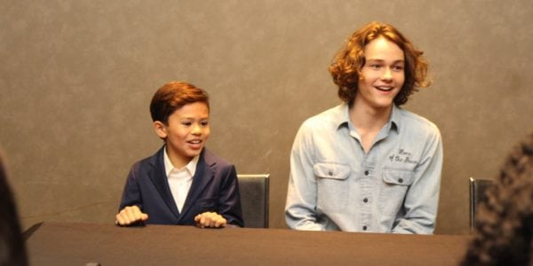 Levi Miller and Deric McCabe Interviews A Wrinkle In Time | Becoming Calvin & Charles Wallace Murry