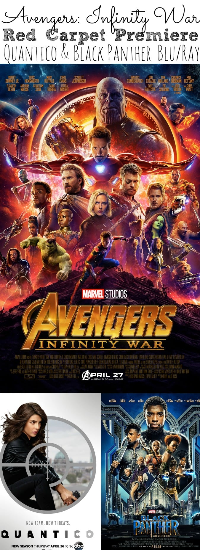Avengers Infinity War Movie Red Carpet Permiere