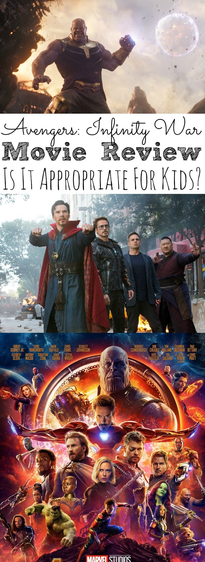 Avengers Infinity War Movie Review Is It Appropriate For Kids