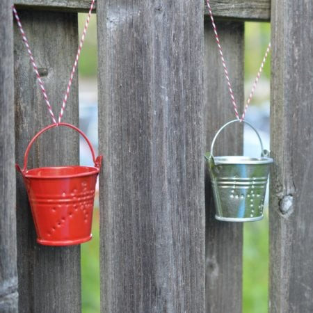 4th of July Flag Patriotic Pails Candle Holders Craft