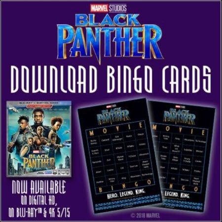 Free Black Panther Bingo Cards and Activity Sheets #BlackPanther