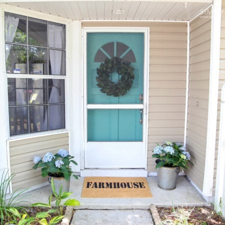 DIY Front Door Custom Mat Farmhouse - simplytodaylife.com