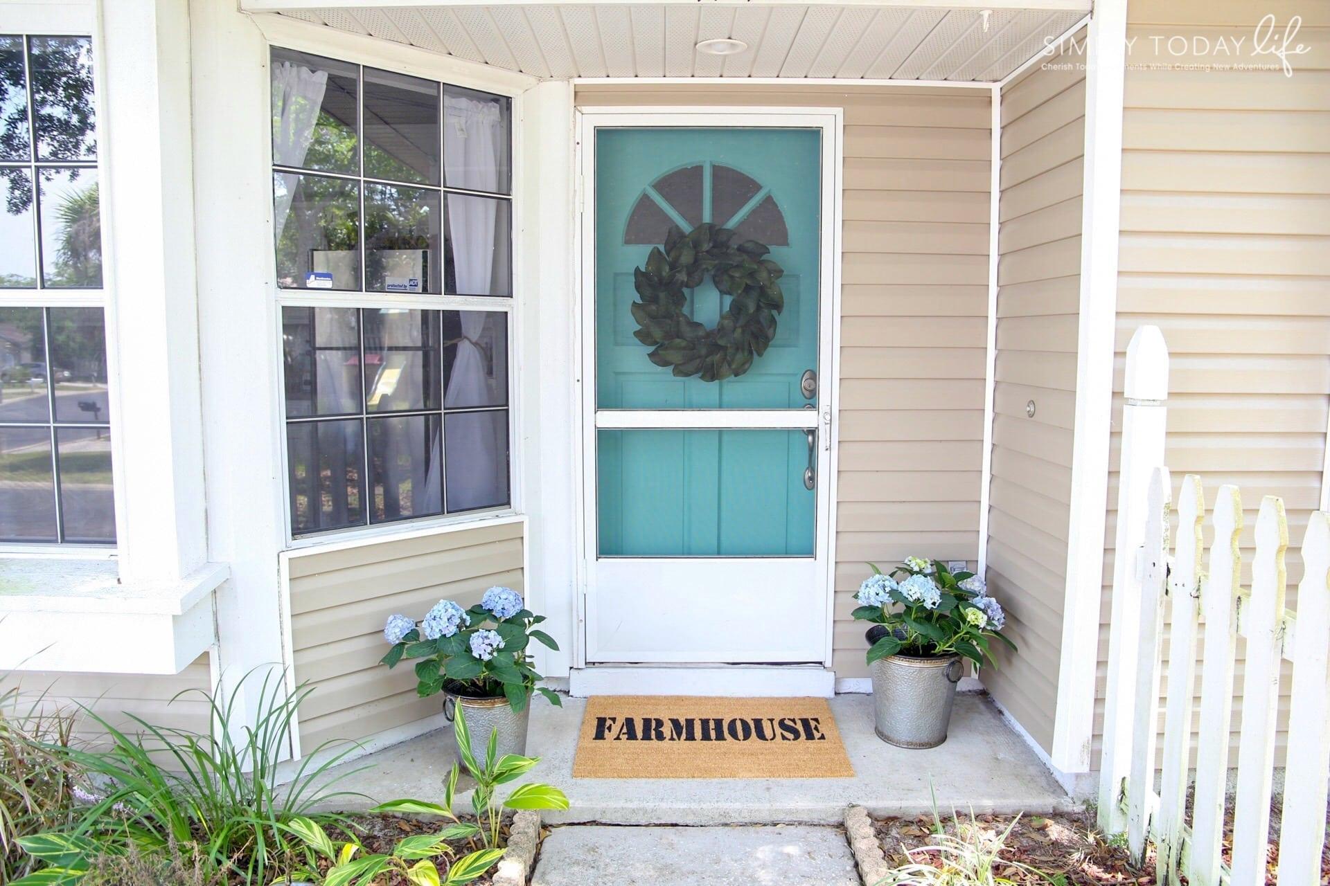 Diy Front Door Custom Mat Farmhouse  Simplytodaylifecom