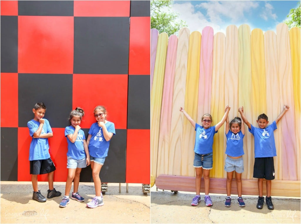 Popsicle Wall and Checkered Board Wall at Toy Story Land
