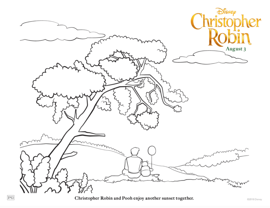 Christopher Robin Free Coloring Pages for Kids