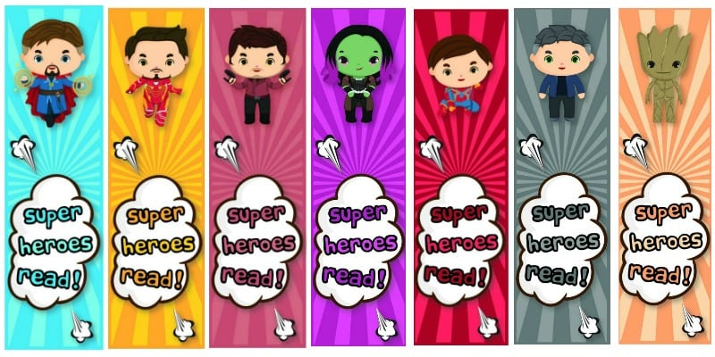 Avengers Infinity War Free Printable Bookmarks for Kids