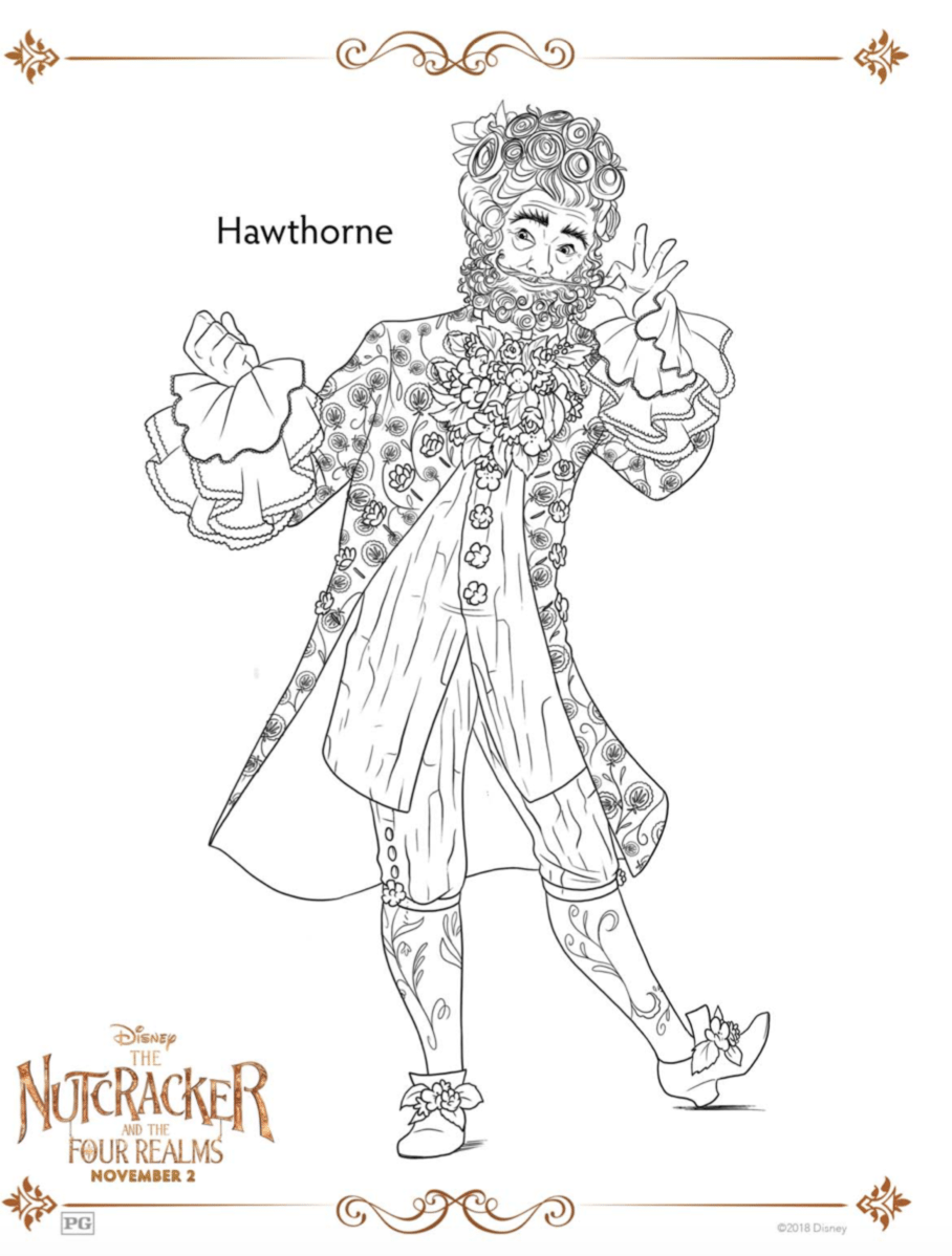 Hawthorne Coloring Page The Nutcracker and the Four Realms