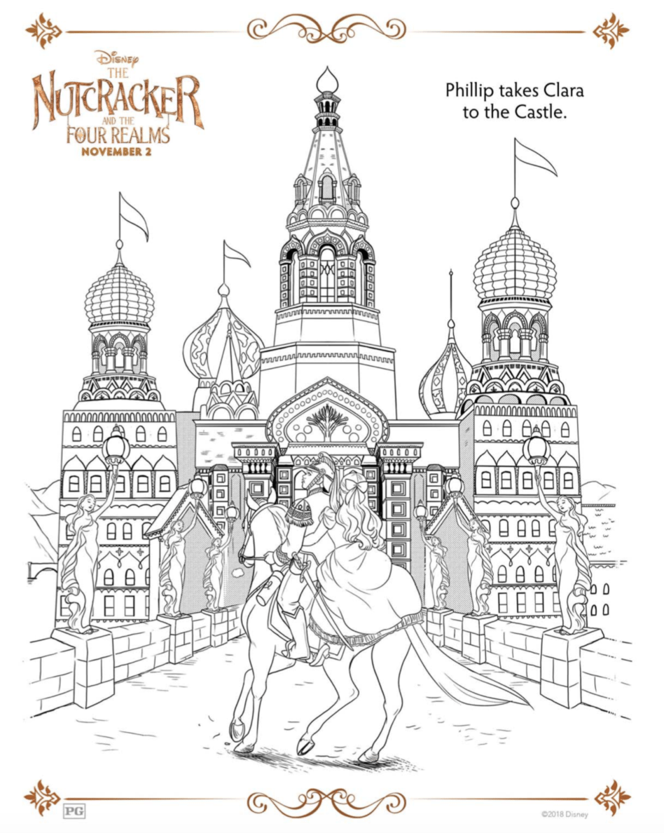 Nutcracker and the Four Realms Coloring Sheets