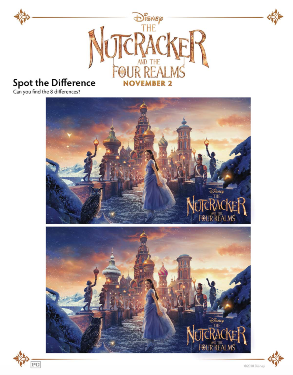 Nutcracker and the Four Realms Spot the Difference Activity Sheet