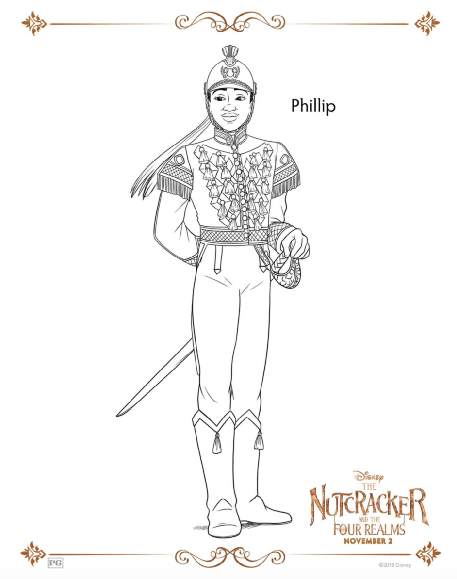 Phillip Coloring Pages Nutcracker and the Four Realms