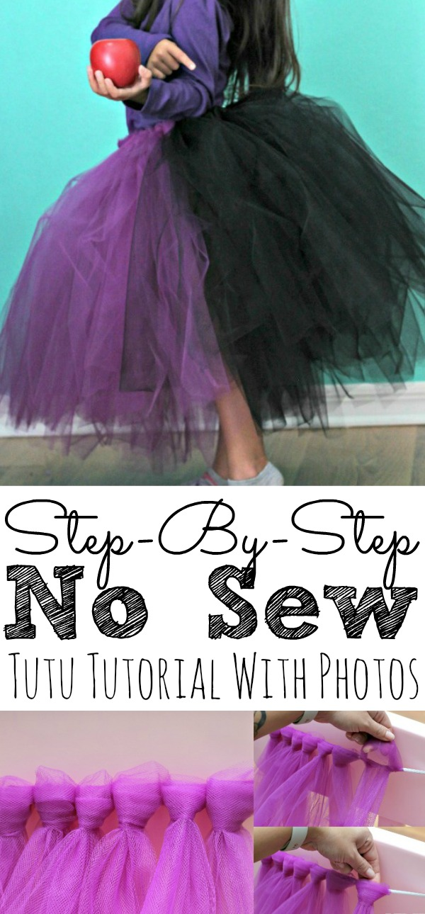 Step by Step No Sew Tutu Tutorial Instructions With Photos