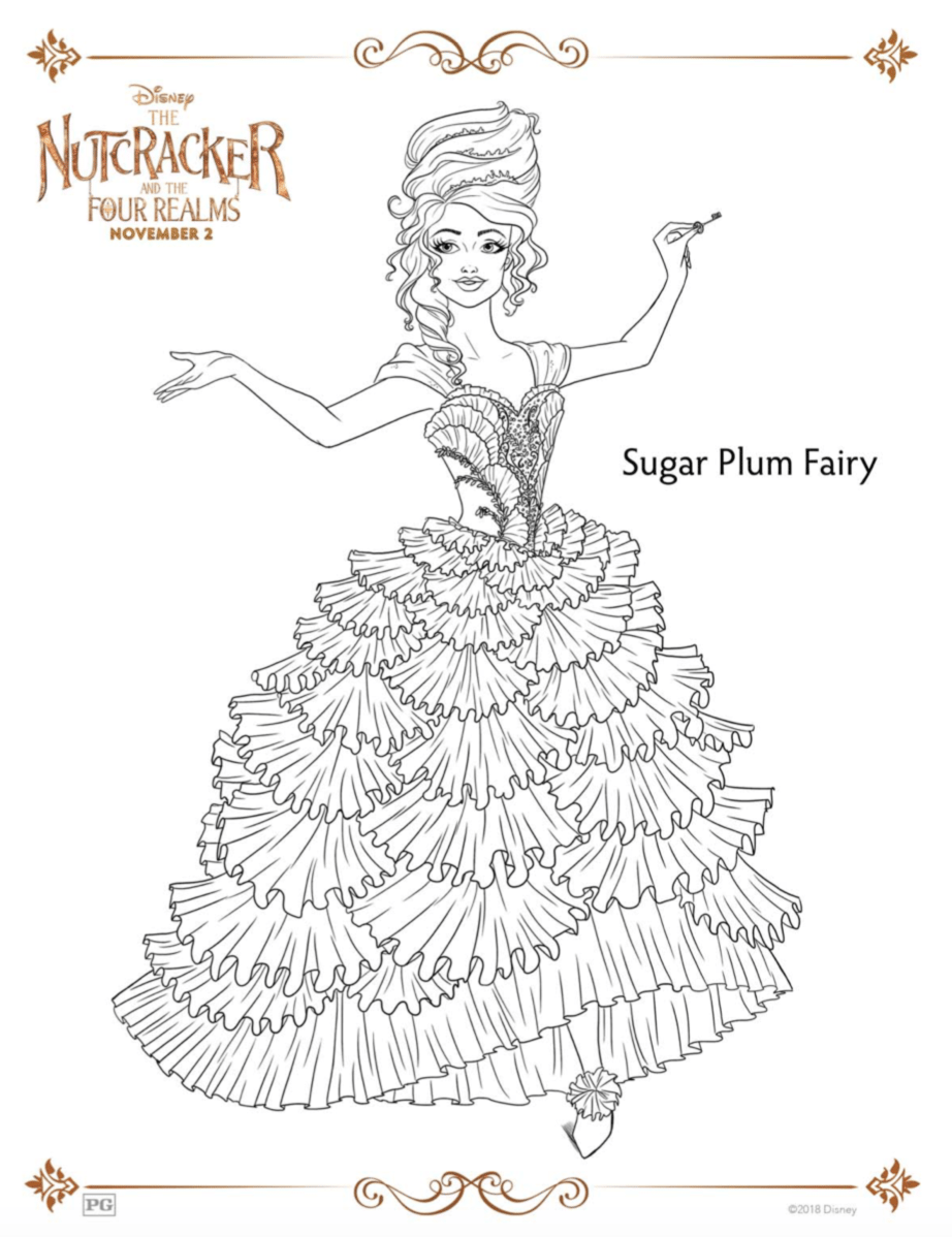 Sugar Plum Fairy Coloring Sheets The Nutcracker