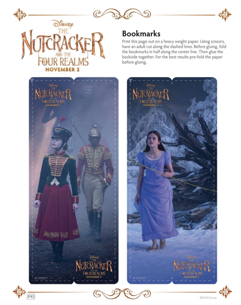 The Nutcracker and the Four Realms Bookmarks for Kids