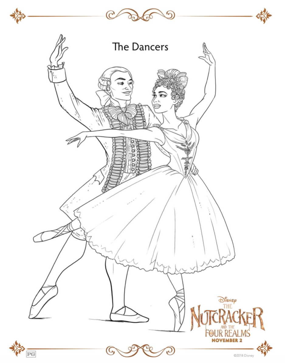 The Nutcracker and the Four Realms Coloring Pages Dancers