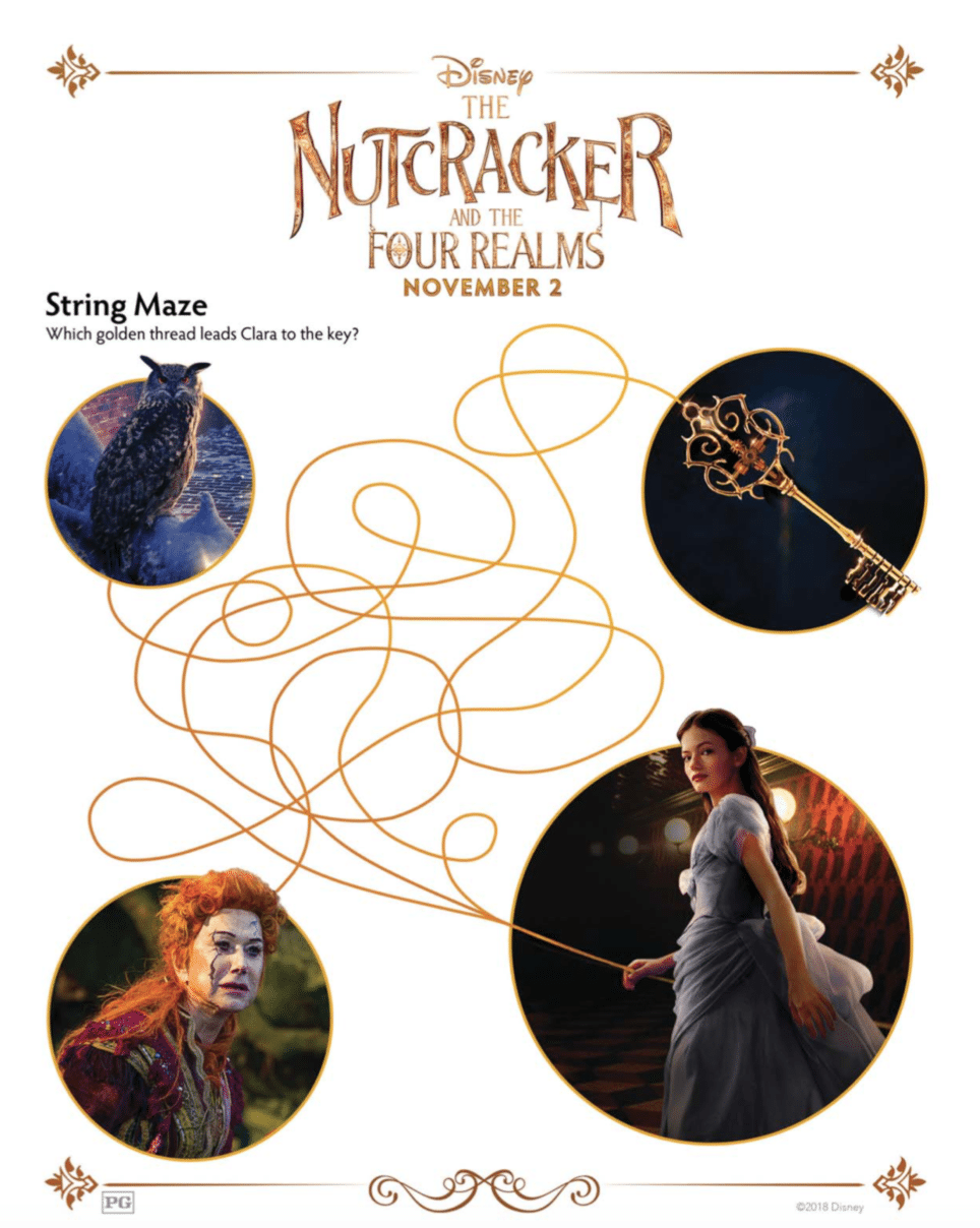 The Nutcracker and the Four Realms String Maze Activity Sheet