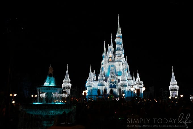 frozen castle at magic kingdom