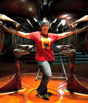 Me ON Set of the Captain Marvel Movie Set