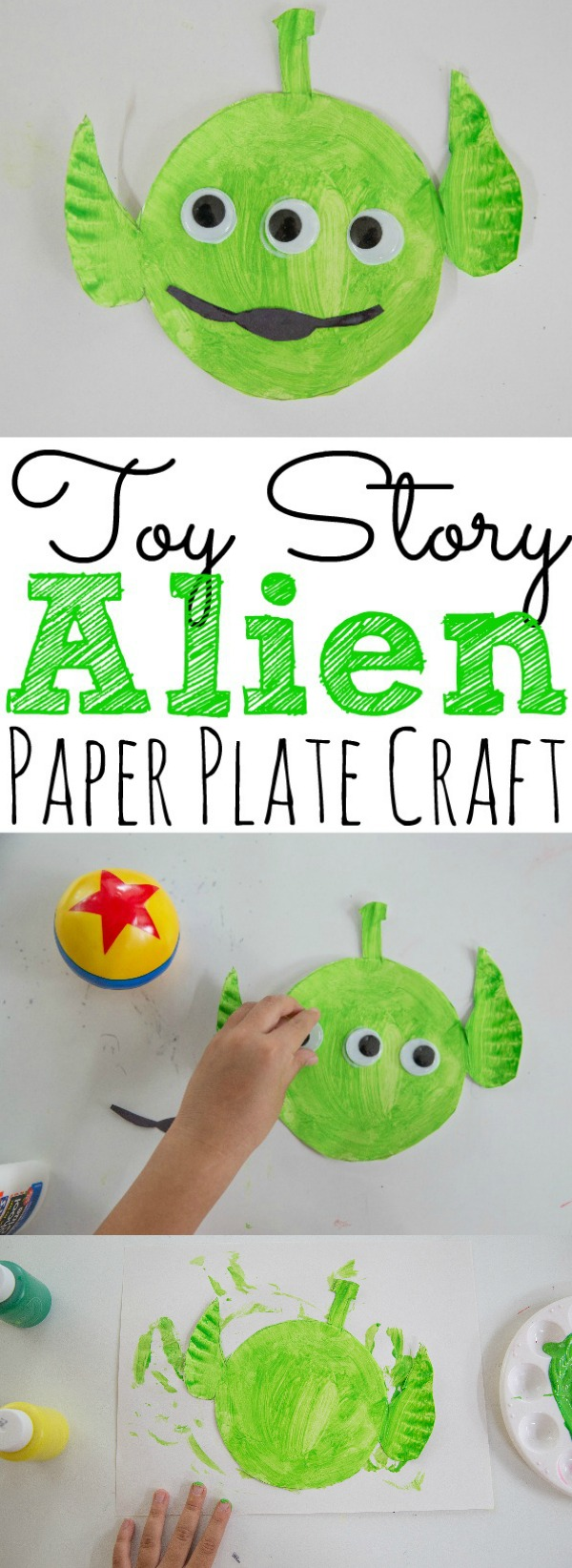 Paper Plate Toy Story Alien Craft For Kids