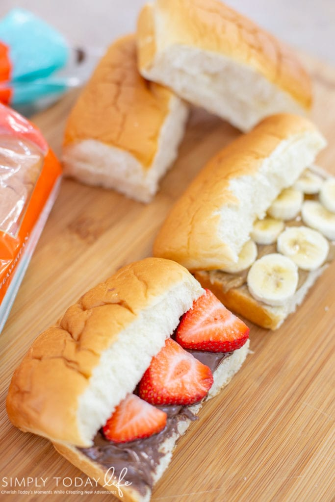 Hazelnut Strawberry Sub Roll Kids Lunch