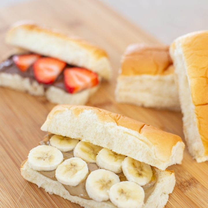 Sunflower Butter, Honey, and Banana Mini Sub