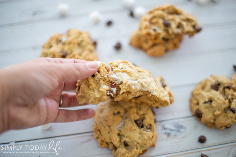 Chewy Chocolate Chip Smores Cookie Recipe